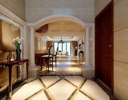 European style living room 239 3D Model