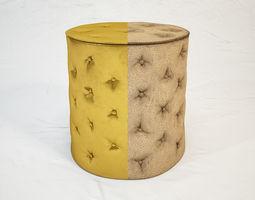 3D model Aura brass stool