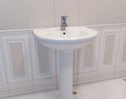 Washbasin BelBagno GALA BB1078L 3D model