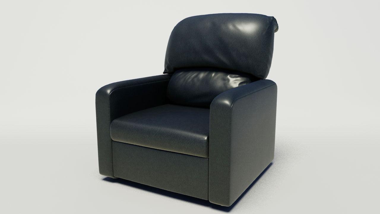 Reclining Chair 3d Model Animated Max Obj Fbx 1 ...