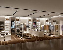 clothing store design 12 3d