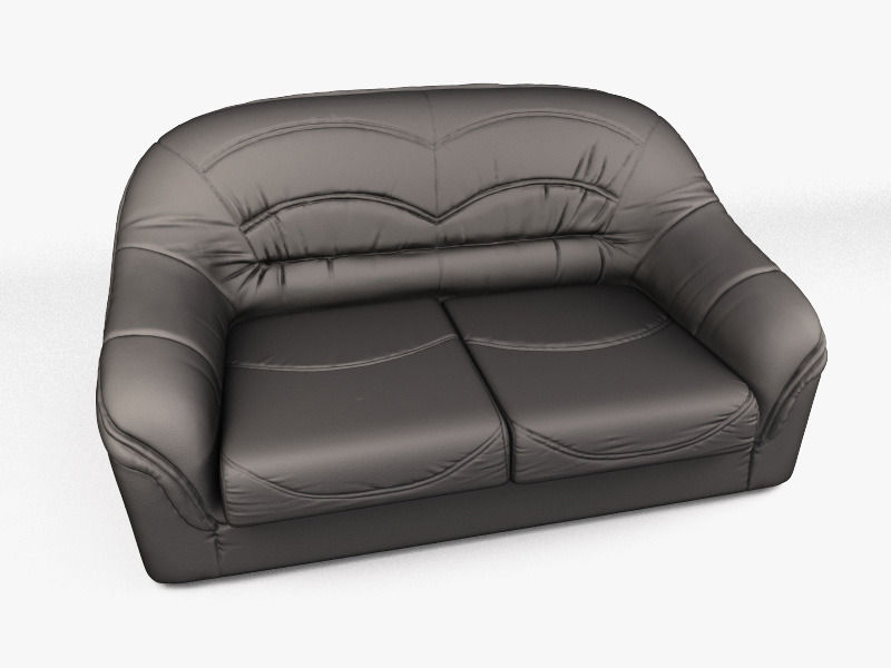 High And Low Poly Sofa D Model CGTrader - High sofa
