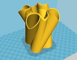 Twisted Vase decor 3D print model