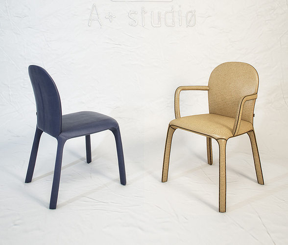 poltrona frau amelie chair by claudio bellini 3d model max obj fbx mtl unitypackage 1
