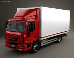 3D model Iveco EuroCargo Box Truck 2013