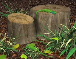 green lizards 3d model