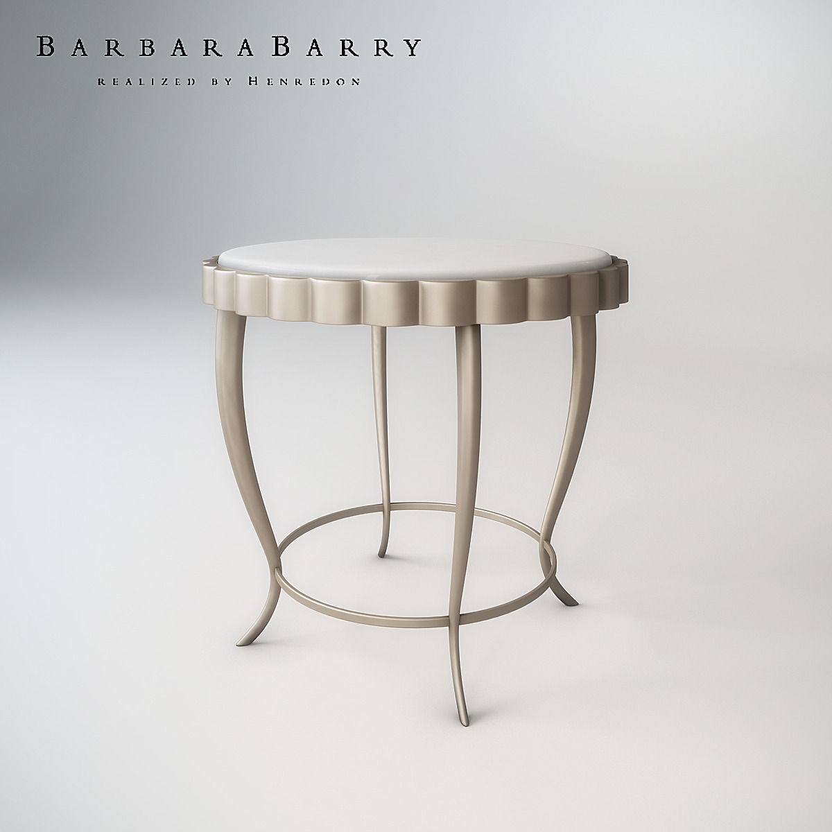 Barbara Barry Chinched Occasional Table Model Max Fbx 1