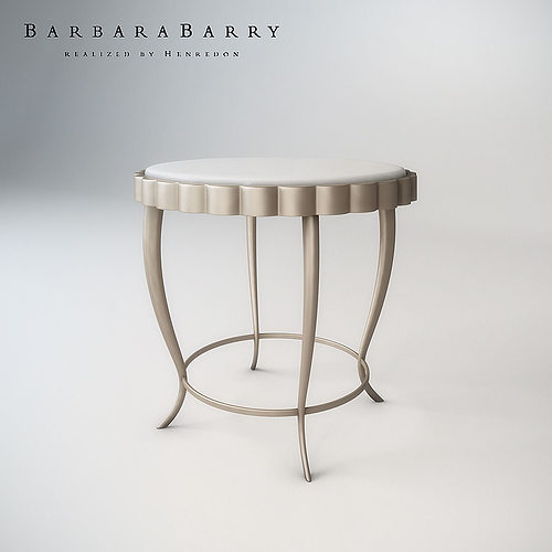 Barbara Barry Chinched Occasional Table 3D Model