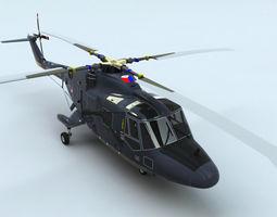 Westland Lynx Helicopter 3D Model