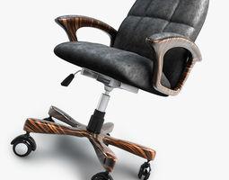 3D model Office chair on wheels