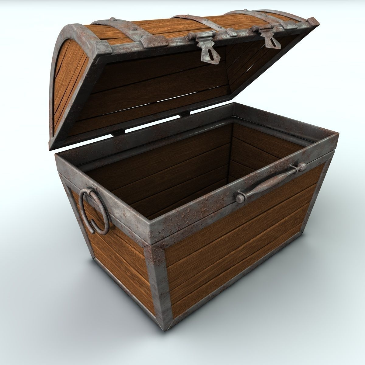 Treasure Chest With Gold 3d Model Obj 3ds Fbx C4d