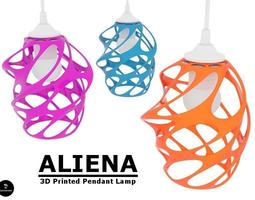 Aliena - Pendant Lamp Shade 3D print model