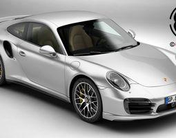 3d model porsche 911 turbo s 2014