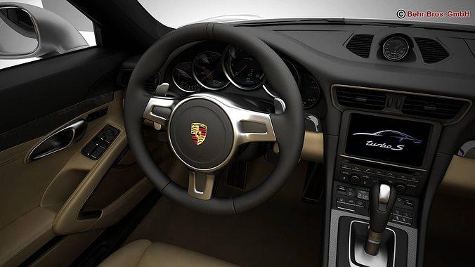 porsche 911 turbo 2014. porsche 911 turbo s 2014 3d model max obj 3ds fbx c4d lwo lw lws 15