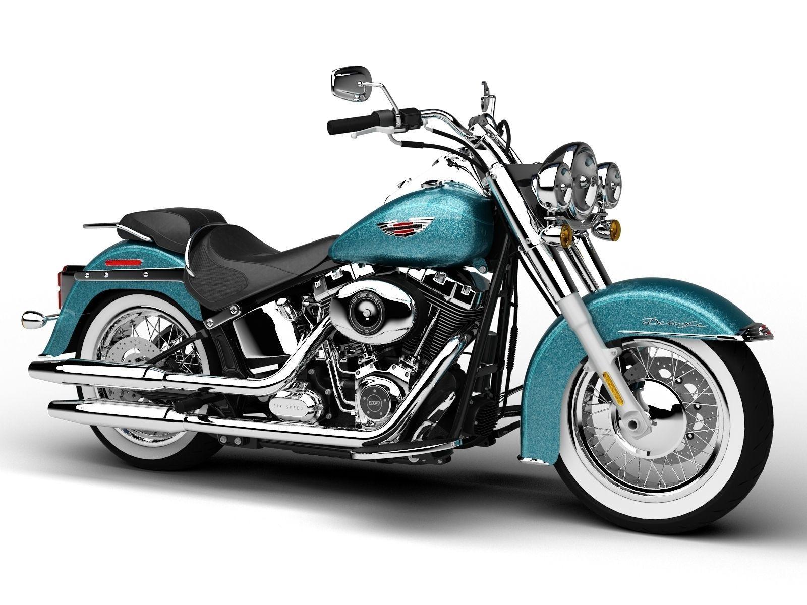 Harley-Davidson FLSTN Softail Deluxe 2015 3D model MAX OBJ 3DS FBX ...