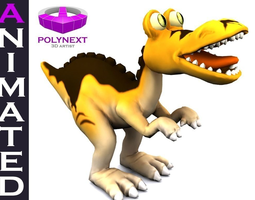 3d model animated cartoon tyrannosaurus