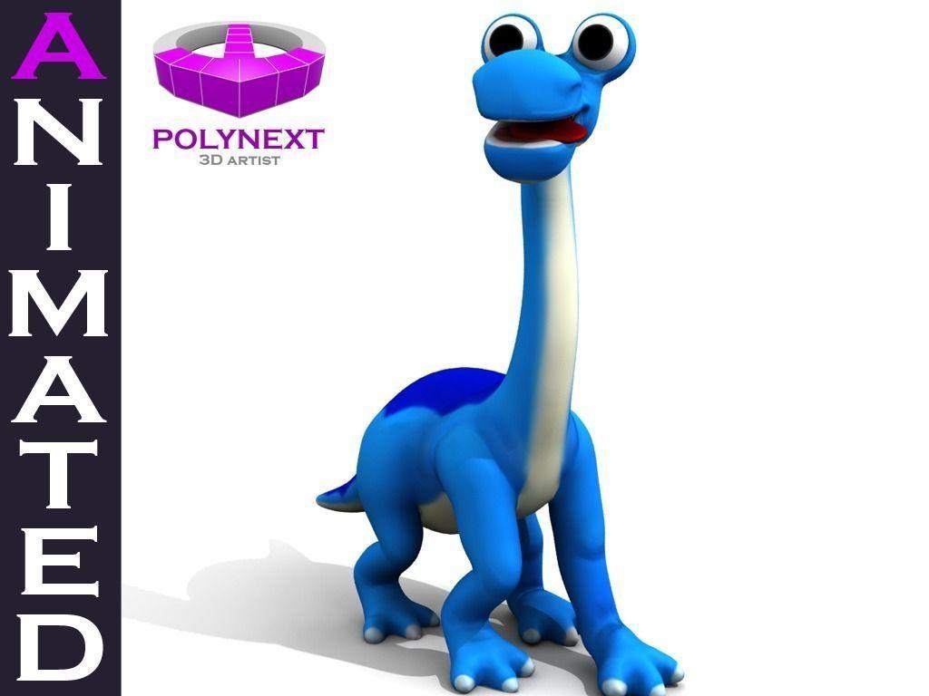 Cartoon Diplodocus Dinosaur