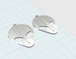 Grey Aliens face Earrings 3D printable model