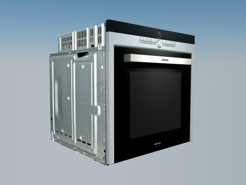 Oven siemens iq700 3d model rigged skp cgtradercom for Siemens ofen