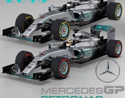 Mercedes W06 Hybrid 3D asset