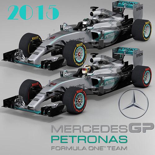 mercedes w06 hybrid 3d model obj mtl 3ds fbx c4d ma mb dae 1