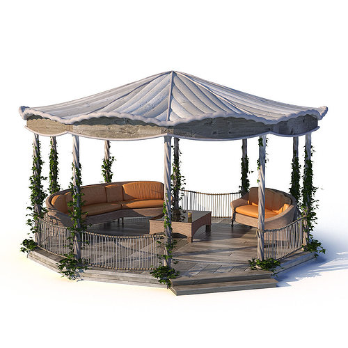 Architect 3d Garden And Exterior 20: Exterior Pergola 3D Model