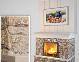 3D model realtime Fireplace