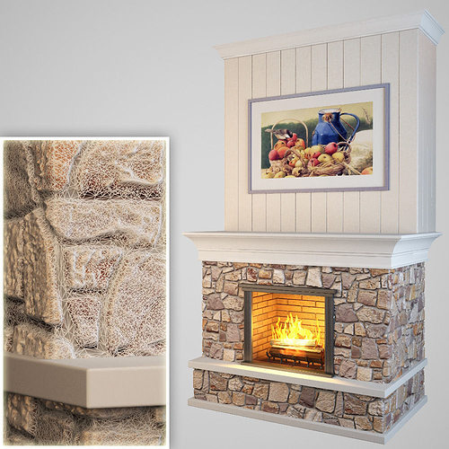 3D model realtime Fireplace   CGTrader