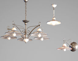 3D model Chandeliers and bra Dandi Gibas