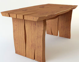 table wooden 3D