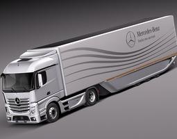 Mercedes Actross AeroTrailer 2014 3D Model