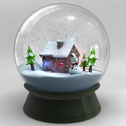3D Snowglobe V2