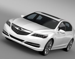 honda legend 2017 3d model