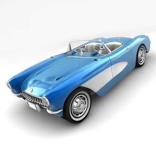 chevy 1957 3d model obj mtl 3ds fbx c4d 1