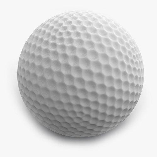 golf ball 3d model obj mtl 3ds fbx c4d 1