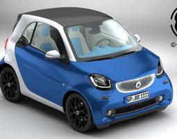 smart fortwo 2015 3d model max obj 3ds fbx c4d lwo lw lws