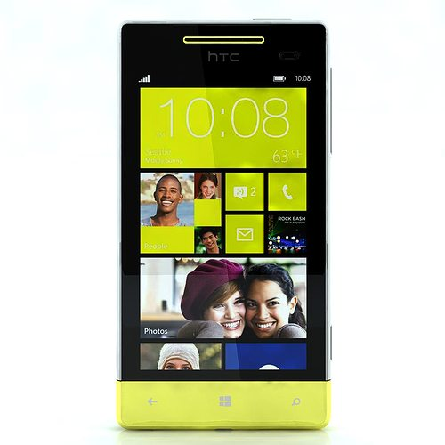 htc windows phone 8s yellow 3d model max obj 3ds fbx c4d ma mb 1