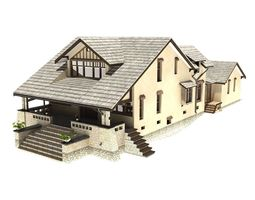 3d model family house animated