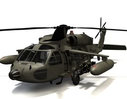 Sikorsky MH60A Blackhawk 2 3D Model