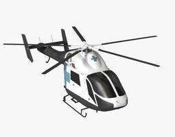 MD 900 Explorer Helicopter 3D Model