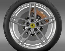 3d ferrari 488 gtb 2015 wheel