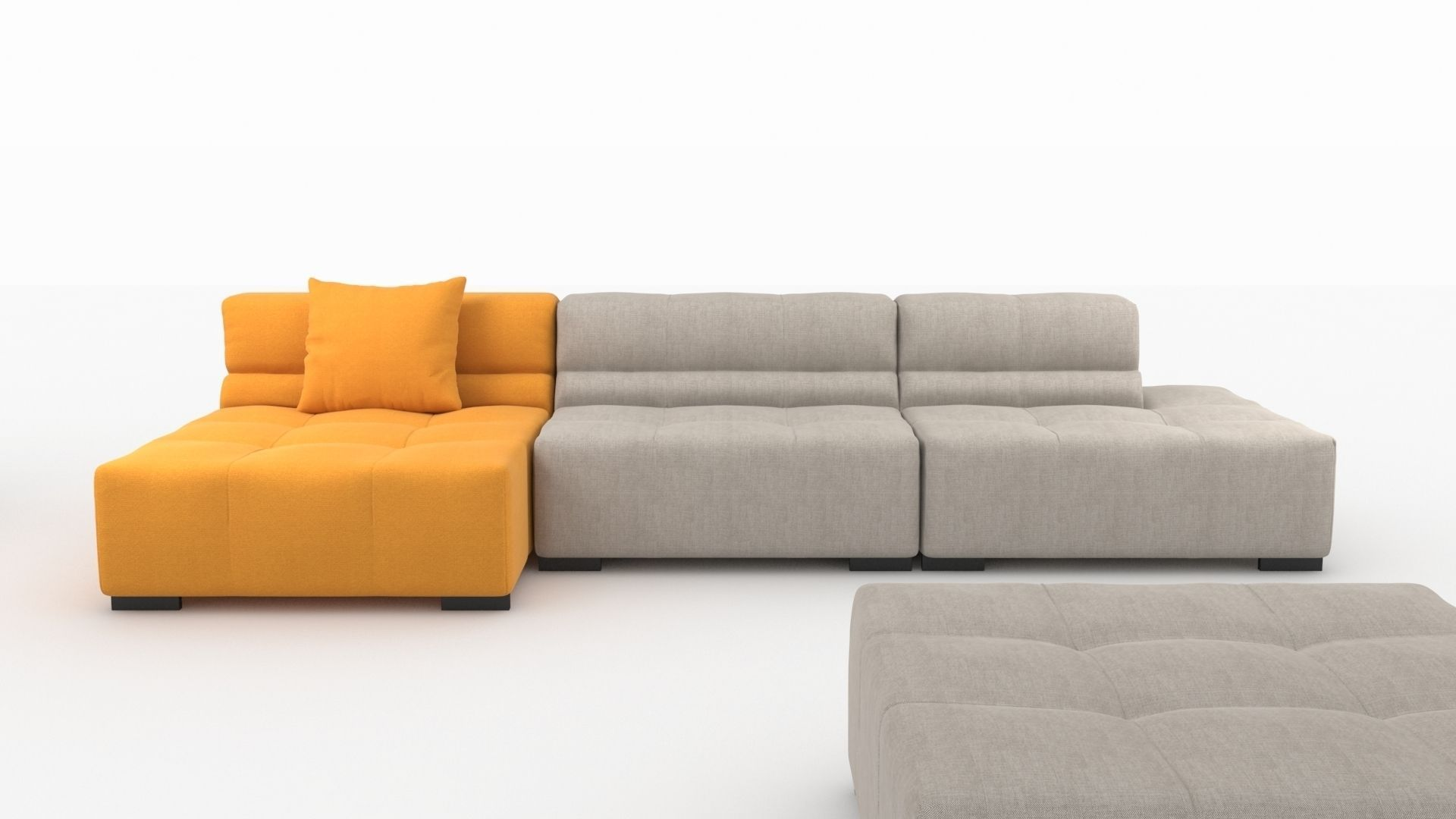 Tufty Time sofa by bb Italia 3D Model MAX OBJ 3DS FBX MTL : CGTrader.com