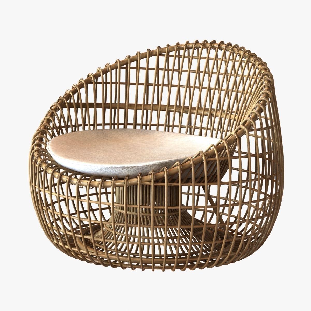 cane line nest lounge chair 3d model max obj 3ds fbx mtl 1