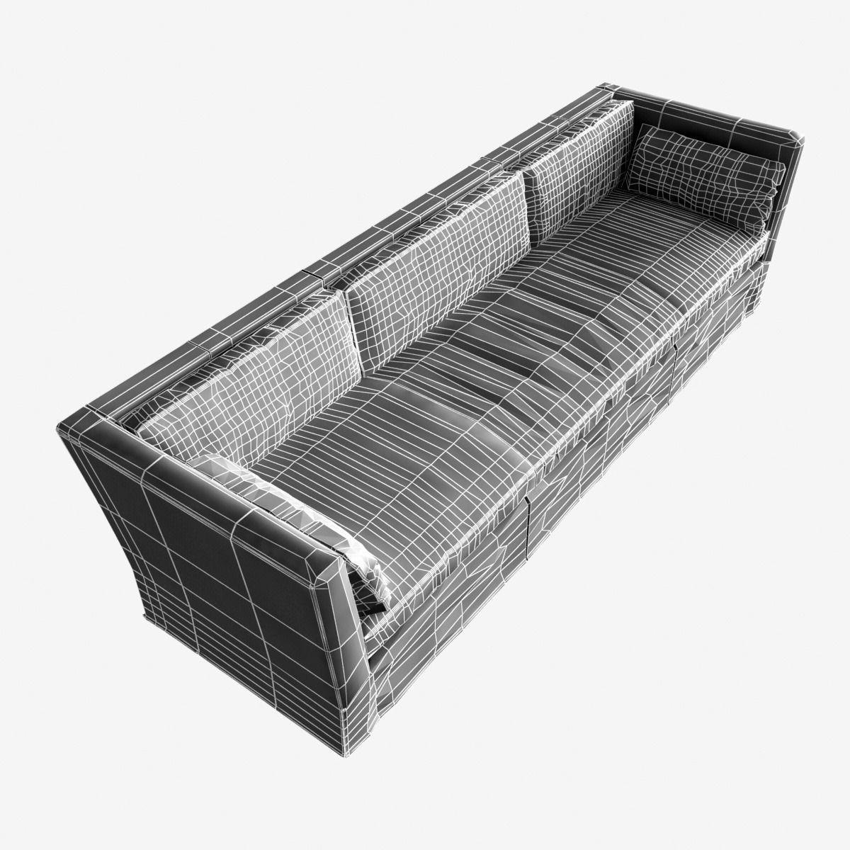 ... Restoration Hardware Belgian Shelter Arm Leather Sofa 3d Model Max Obj  Mtl 3ds Fbx 6 ...