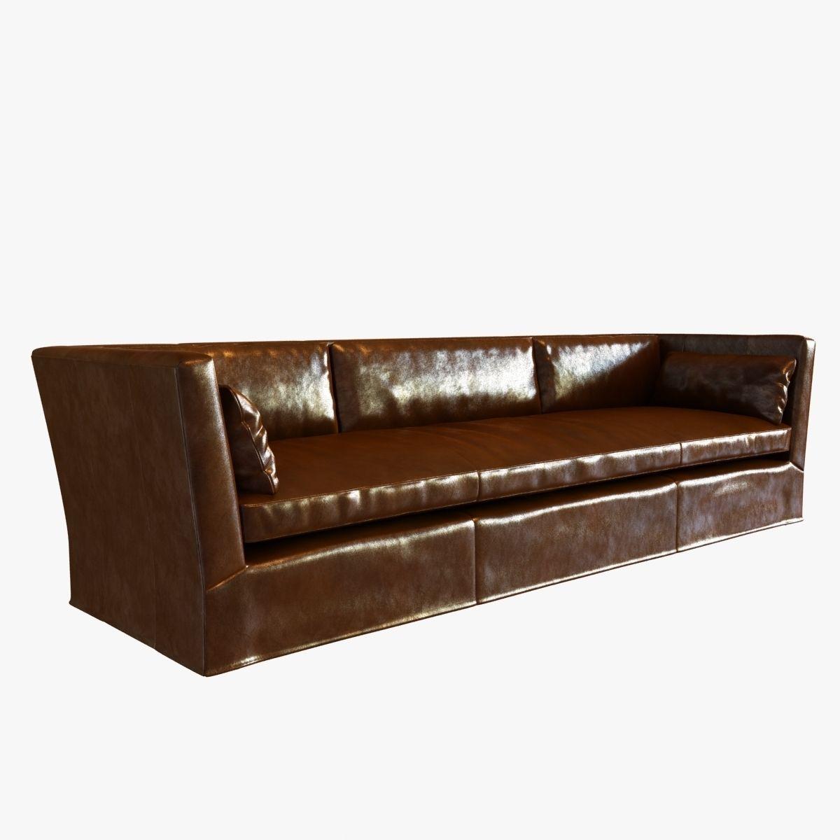Leather Sofa Repair Rotherham: Restoration Hardware BELGIAN SHELTER ARM L... 3D Model MAX