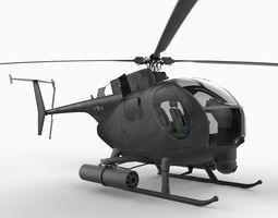 Hughes AH6 Little Bird 3D Model