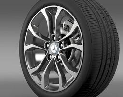 3D Mercedes Benz C 220 wheel