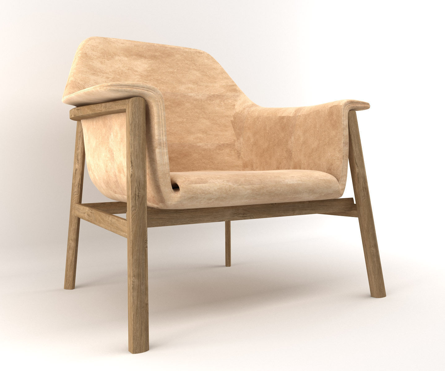 Wooden Armchair 3d Model Max Obj 3dm