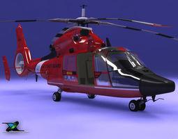 US Coast Guard HH65C Dolphin 3D Model