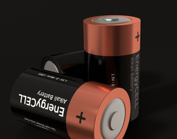 battery d low-poly 3d model